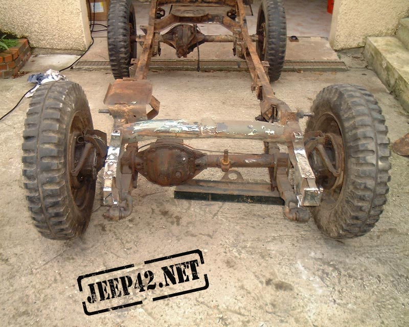 Restauration chassis Jeep Willys